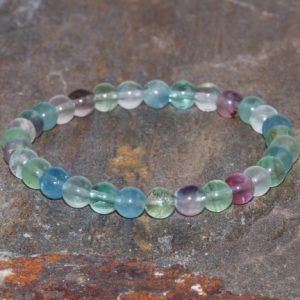 Shop Fluorite Bracelets! Shiny Fluorite Bracelet 6mm Round Gemstone Beaded Bracelet Natural Green Blue Fluorite Bracelet Unisex Bracelet Gift Stacking Bracelets | Natural genuine Fluorite bracelets. Buy crystal jewelry, handmade handcrafted artisan jewelry for women.  Unique handmade gift ideas. #jewelry #beadedbracelets #beadedjewelry #gift #shopping #handmadejewelry #fashion #style #product #bracelets #affiliate #ad