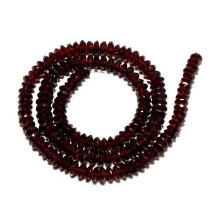 Shop Garnet Rondelle Beads! Mozambique Garnet Rondelle Bead, Garnet Spacer Beads, German Cut Beads, 5.5mm To 6mm Each, 16 Inch Full Strand, 150 Pieces Approx | Natural genuine rondelle Garnet beads for beading and jewelry making.  #jewelry #beads #beadedjewelry #diyjewelry #jewelrymaking #beadstore #beading #affiliate #ad