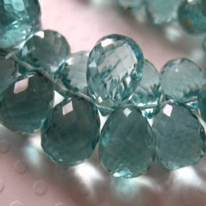 2-10 pc, Green Amethyst QUARTZ Briolettes Teardrop Drop, 12-13 mm, February Birthstone Seafoam, bridal hydqtz73 giant bsc solo | Natural genuine other-shape Green Amethyst beads for beading and jewelry making.  #jewelry #beads #beadedjewelry #diyjewelry #jewelrymaking #beadstore #beading #affiliate #ad