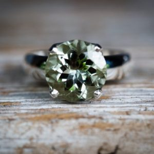 Shop Green Amethyst Rings! Green Quartz Ring 5 – 9 Prasiolite Ring – Green Amethyst Ring – Green Quartz Ring Size 5- 9 round Cut Green Amethyst Ring Size 5 – 9 Quartz | Natural genuine Green Amethyst rings, simple unique handcrafted gemstone rings. #rings #jewelry #shopping #gift #handmade #fashion #style #affiliate #ad