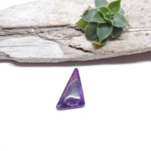 Shop Sugilite Stones & Crystals! Hand Carved Small Sugilite Cabochon, Triangle Cabochon, Purple Stone, Crystal Cabochon, Jewelry Supplies, Gemmy Sugilite, Metaphysical Stone | Natural genuine stones & crystals in various shapes & sizes. Buy raw cut, tumbled, or polished gemstones for making jewelry or crystal healing energy vibration raising reiki stones. #crystals #gemstones #crystalhealing #crystalsandgemstones #energyhealing #affiliate #ad