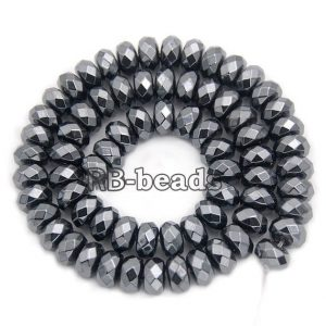 Shop Hematite Faceted Beads! gem Natural Faceted Black Hematite Rondelle Beads, Disk Stone Beads,  Spacer Loose Jewelry beads, 2mm 3mm 4mm 6mm 8mm 10mm 16'' strand | Natural genuine faceted Hematite beads for beading and jewelry making.  #jewelry #beads #beadedjewelry #diyjewelry #jewelrymaking #beadstore #beading #affiliate #ad