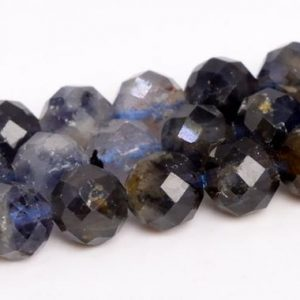 """Shop Iolite Faceted Beads! 6mm Deep Color Iolite Beads Grade Ab Genuine Natural Gemstone Faceted Round Loose Beads 15.5"""" / 7.5"""" Bulk Lot Options (109061) 