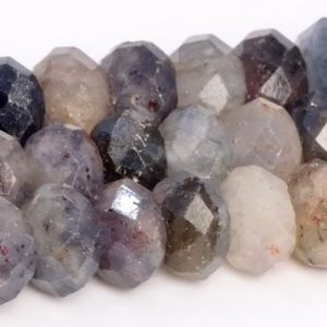 """Shop Iolite Faceted Beads! 8x5mm Multicolor Iolite Beads Grade A Genuine Natural Gemstone Faceted Rondelle Loose Beads 15"""" / 7.5"""" Bulk Lot Options (109070) 