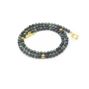 Shop Jade Necklaces! Men's Necklace, Dark Green Jade and 22K Gold Plated Beads Necklace, Bead Necklace, Men's Jade Necklace, Beades Necklace Man | Natural genuine Jade necklaces. Buy crystal jewelry, handmade handcrafted artisan jewelry for women.  Unique handmade gift ideas. #jewelry #beadednecklaces #beadedjewelry #gift #shopping #handmadejewelry #fashion #style #product #necklaces #affiliate #ad