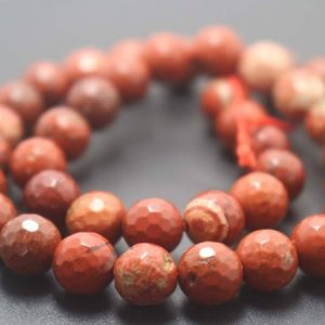 Shop Jasper Faceted Beads! 128 Faceted Red Jasper Round Beads,6mm/8mm/10mm/12mm Gemstone Beads Supply,15 inches one starand | Natural genuine faceted Jasper beads for beading and jewelry making.  #jewelry #beads #beadedjewelry #diyjewelry #jewelrymaking #beadstore #beading #affiliate #ad