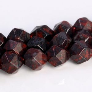 Shop Jasper Faceted Beads! Dark Red Brecciated Jasper Beads Star Cut Faceted Grade AAA Genuine Natural Gemstone Loose Beads 5-6MM 7-8MM 9-10MM Bulk Lot Options | Natural genuine faceted Jasper beads for beading and jewelry making.  #jewelry #beads #beadedjewelry #diyjewelry #jewelrymaking #beadstore #beading #affiliate #ad