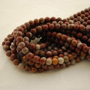 "Shop Red Jasper Beads! High Quality Grade A Natural Noreena Jasper Semi-precious Gemstone Round Beads – 4mm, 6mm, 8mm, 10mm Sizes – Approx 16"" Strand 