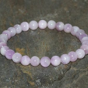 Shop Kunzite Jewelry! 6mm Kunzite Bracelet, Connecting the Mind & Heart, Breaking Down Emotional Barriers-Opening the Heart Chakra-Emotional Healing-Divine Love | Natural genuine Kunzite jewelry. Buy crystal jewelry, handmade handcrafted artisan jewelry for women.  Unique handmade gift ideas. #jewelry #beadedjewelry #beadedjewelry #gift #shopping #handmadejewelry #fashion #style #product #jewelry #affiliate #ad
