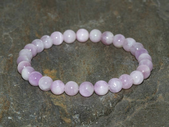 6mm Kunzite Bracelet, Connecting The Mind & Heart, Breaking Down Emotional Barriers-opening The Heart Chakra-emotional Healing-divine Love