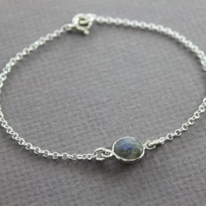 Shop Labradorite Bracelets! Dainty labradorite stone channel bracelet, Sterling silver bracelet, Minimalist bracelet, Gemstone bracelet, Labradorite bracelet – BR021 | Natural genuine Labradorite bracelets. Buy crystal jewelry, handmade handcrafted artisan jewelry for women.  Unique handmade gift ideas. #jewelry #beadedbracelets #beadedjewelry #gift #shopping #handmadejewelry #fashion #style #product #bracelets #affiliate #ad