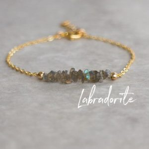 Shop Labradorite Bracelets! Raw Labradorite Bracelet, Jewelry Gift for Women, Healing Crystal Bracelet Gift for Her | Natural genuine Labradorite bracelets. Buy crystal jewelry, handmade handcrafted artisan jewelry for women.  Unique handmade gift ideas. #jewelry #beadedbracelets #beadedjewelry #gift #shopping #handmadejewelry #fashion #style #product #bracelets #affiliate #ad