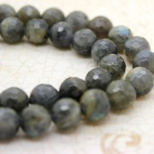 Shop Labradorite Faceted Beads! Natural Labradorite Faceted Round Ball Sphere Beads Natural Gemstone (4mm 6mm 8mm 10mm 12mm) | Natural genuine faceted Labradorite beads for beading and jewelry making.  #jewelry #beads #beadedjewelry #diyjewelry #jewelrymaking #beadstore #beading #affiliate #ad