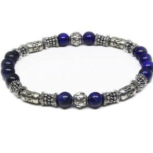 Shop Lapis Lazuli Bracelets! Men's Sterling Silver Bracelet, Lapis Lazuli And Silver Bracelet, Men's Lapis Bracelet, Bracelet Men, Sterling Silver Bracelet For Men | Natural genuine Lapis Lazuli bracelets. Buy handcrafted artisan men's jewelry, gifts for men.  Unique handmade mens fashion accessories. #jewelry #beadedbracelets #beadedjewelry #shopping #gift #handmadejewelry #bracelets #affiliate #ad