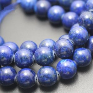 Shop Lapis Lazuli Round Beads! Dyed Lapis Lazuli Beads,Smooth and Round Stone Beads,4mm/6mm/8mm/10mm/12mm Beads Supply,15 inches one starand | Natural genuine round Lapis Lazuli beads for beading and jewelry making.  #jewelry #beads #beadedjewelry #diyjewelry #jewelrymaking #beadstore #beading #affiliate #ad