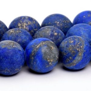 Matte Deep Blue Lapis Lazuli Beads Grade A Natural Gemstone Round Loose Beads 4MM 6MM 8MM 10MM 15MM Bulk Lot Options | Natural genuine beads Array beads for beading and jewelry making.  #jewelry #beads #beadedjewelry #diyjewelry #jewelrymaking #beadstore #beading #affiliate #ad