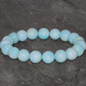 Shop Larimar Bracelets! Larimar Bracelet Handmade 9mm-9.5mm Natural Dominican Larimar Gemstone Bracelet Grade AA Natural Dominican Larimar Blue Larimar Bracelet | Natural genuine Larimar bracelets. Buy crystal jewelry, handmade handcrafted artisan jewelry for women.  Unique handmade gift ideas. #jewelry #beadedbracelets #beadedjewelry #gift #shopping #handmadejewelry #fashion #style #product #bracelets #affiliate #ad