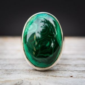 Shop Malachite Rings! Malachite Ring 7.5 – Malachite Ring – Green Malachite Ring – Malachite Jewelry – Ring Size 7.5 – Malachite Ring Sterling Silver – Green | Natural genuine Malachite rings, simple unique handcrafted gemstone rings. #rings #jewelry #shopping #gift #handmade #fashion #style #affiliate #ad
