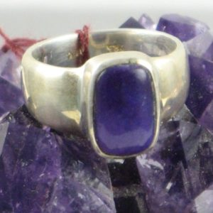 Shop Sugilite Rings! Medium Sugilite Ring, Rectangle Sugilite, Sugilite And Silver, Sterling Silver Ring, Purple Rectangle Medium Sugilite Gem Medium Silver Ring | Natural genuine Sugilite rings, simple unique handcrafted gemstone rings. #rings #jewelry #shopping #gift #handmade #fashion #style #affiliate #ad