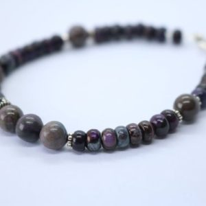 Shop Sugilite Bracelets! Men's / Unisex Sugilite Bracelet – Extremely Rare | Natural genuine Sugilite bracelets. Buy crystal jewelry, handmade handcrafted artisan jewelry for women.  Unique handmade gift ideas. #jewelry #beadedbracelets #beadedjewelry #gift #shopping #handmadejewelry #fashion #style #product #bracelets #affiliate #ad
