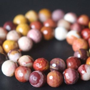 Shop Mookaite Beads! 128 faceted Mookaite Beads,6mm/8mm/10mm/12mm Faceted Beads Supply,15 inches one starand | Natural genuine faceted Mookaite beads for beading and jewelry making.  #jewelry #beads #beadedjewelry #diyjewelry #jewelrymaking #beadstore #beading #affiliate #ad