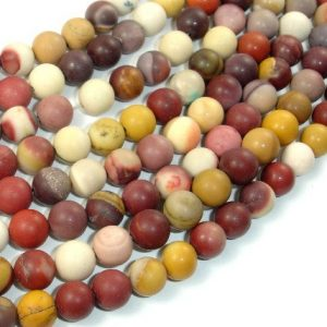 Shop Mookaite Beads! Matte Mookaite Beads, 8mm Round Beads, 15 Inch, Full strand, Approx 46 beads, Hole 1 mm, A quality (320054008) | Natural genuine round Mookaite beads for beading and jewelry making.  #jewelry #beads #beadedjewelry #diyjewelry #jewelrymaking #beadstore #beading #affiliate #ad