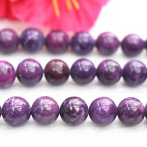 Natural Purple Dragonshard Smooth And Round Beads,6mm 8mm 10mm 12mm Sugilite Beads,dragonshard Beads Wholesale Supply,15″ Strand | Natural genuine round Sugilite beads for beading and jewelry making.  #jewelry #beads #beadedjewelry #diyjewelry #jewelrymaking #beadstore #beading #affiliate #ad
