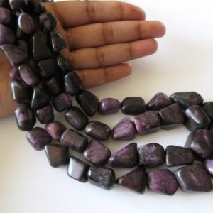 Shop Sugilite Beads! Natural Sugilite Tumbled Bead, Sugilite Beads, Sugilite Stone, Sugilite Tumbles, 9mm To 17mm Beads, 7.5 Inch Half Strand, Sku2745 | Natural genuine chip Sugilite beads for beading and jewelry making.  #jewelry #beads #beadedjewelry #diyjewelry #jewelrymaking #beadstore #beading #affiliate #ad