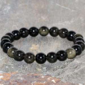 Shop Obsidian Bracelets! Gold Obsidian Bracelet, 8mm Obsidian Bracelet, Mens Beaded Bracelet, Womens Bracelet, Obsidian Mala Bracelet, Gemstone Bracelet, Wrist Mala | Natural genuine Obsidian bracelets. Buy handcrafted artisan men's jewelry, gifts for men.  Unique handmade mens fashion accessories. #jewelry #beadedbracelets #beadedjewelry #shopping #gift #handmadejewelry #bracelets #affiliate #ad