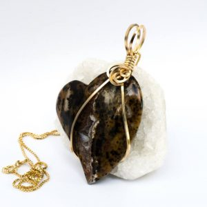 Shop Ocean Jasper Pendants! Ocean Jasper Pendant – 14k Gold Wire Wrap Necklace – Ocean Jasper Necklace – Heart Shape Pendant – Ocean Jasper Druzy Pendant – Gift For Her | Natural genuine Ocean Jasper pendants. Buy crystal jewelry, handmade handcrafted artisan jewelry for women.  Unique handmade gift ideas. #jewelry #beadedpendants #beadedjewelry #gift #shopping #handmadejewelry #fashion #style #product #pendants #affiliate #ad