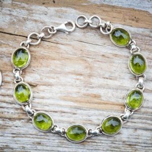 Shop Peridot Bracelets! Peridot Cabochon Bracelet –  Peridot 8 stone Bracelet – Peridot Bracelet Jewelry – peridot bracelet – Peridot Cabochon – August Birthstone | Natural genuine Peridot bracelets. Buy crystal jewelry, handmade handcrafted artisan jewelry for women.  Unique handmade gift ideas. #jewelry #beadedbracelets #beadedjewelry #gift #shopping #handmadejewelry #fashion #style #product #bracelets #affiliate #ad