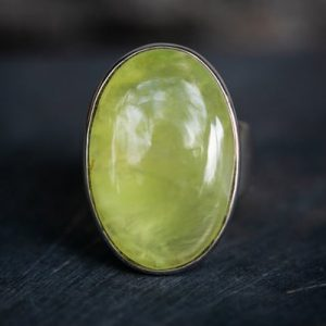 Shop Prehnite Rings! Prehnite Cabochon Ring size 5.5 – Prehnite Ring – Prehnite Cabochon Ring size 5.5 – Stunning Prehnite Ring Natural Prehnite Ring – Prehnite | Natural genuine Prehnite rings, simple unique handcrafted gemstone rings. #rings #jewelry #shopping #gift #handmade #fashion #style #affiliate #ad
