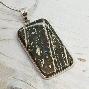 Shop Rainforest Jasper Pendants! Big Rhyolite Rainforest Jasper Stone Pendant Set On Sterling Silver 925 Natural Jasper Rectangle Shape Jewelry Sterling Silver Mount Unisex | Natural genuine Rainforest Jasper pendants. Buy crystal jewelry, handmade handcrafted artisan jewelry for women.  Unique handmade gift ideas. #jewelry #beadedpendants #beadedjewelry #gift #shopping #handmadejewelry #fashion #style #product #pendants #affiliate #ad
