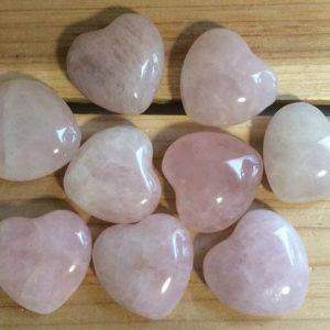 Shop Rose Quartz Shapes! Rose Quartz Small Gemstone Puffy Heart,Stone of Love,Healing Stone, Spiritual Stone,, Healing Crystal, Chakra Stone | Natural genuine stones & crystals in various shapes & sizes. Buy raw cut, tumbled, or polished gemstones for making jewelry or crystal healing energy vibration raising reiki stones. #crystals #gemstones #crystalhealing #crystalsandgemstones #energyhealing #affiliate #ad