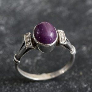 Shop Ruby Rings! Natural Ruby Ring, Ruby Ring, Vintage Rings, July Birthstone, Solid Silver, 3 Carat Ring, July Ring, Red Ring, Statement Ring, Red Ruby | Natural genuine Ruby rings, simple unique handcrafted gemstone rings. #rings #jewelry #shopping #gift #handmade #fashion #style #affiliate #ad