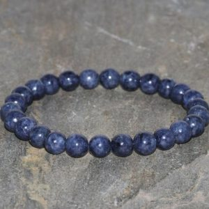 Shop Sapphire Bracelets! Sapphire Bracelet Handmade 6mm Dark Blue Sapphire Gemstone Bracelet Natural Sapphire Bracelet Stacking Bracelet Unisex Jewelry Hope Bracelet | Natural genuine Sapphire bracelets. Buy crystal jewelry, handmade handcrafted artisan jewelry for women.  Unique handmade gift ideas. #jewelry #beadedbracelets #beadedjewelry #gift #shopping #handmadejewelry #fashion #style #product #bracelets #affiliate #ad