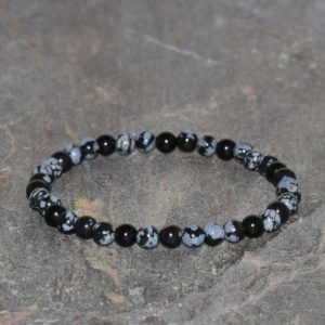 Shop Snowflake Obsidian Bracelets! Snowflake Obsidian Bracelet Handmade 4mm Snowflake Obsidian Beaded Gemstone Bracelet Balancing Energy Bracelet Stacking Unisex Bracelet | Natural genuine Snowflake Obsidian bracelets. Buy crystal jewelry, handmade handcrafted artisan jewelry for women.  Unique handmade gift ideas. #jewelry #beadedbracelets #beadedjewelry #gift #shopping #handmadejewelry #fashion #style #product #bracelets #affiliate #ad