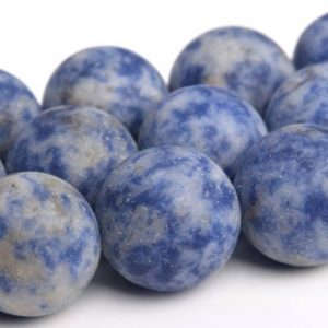 "Shop Sodalite Round Beads! 15mm Matte Sodalite Beads Grade Aaa Genuine Natural Gemstone Round Loose Beads 15.5"" / 7.5"" / 4"" Bulk Lot Options (103565) 