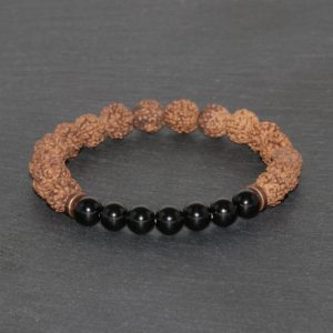 Shop Spinel Bracelets! 7mm Indonesia Rudraksha and 6mm Spinel Bracelet 4 Faces Mukhi Mukhi Original Rudraksha Beaded Bracelet Lord Halumanji Rudraksha Mala | Natural genuine Spinel bracelets. Buy crystal jewelry, handmade handcrafted artisan jewelry for women.  Unique handmade gift ideas. #jewelry #beadedbracelets #beadedjewelry #gift #shopping #handmadejewelry #fashion #style #product #bracelets #affiliate #ad
