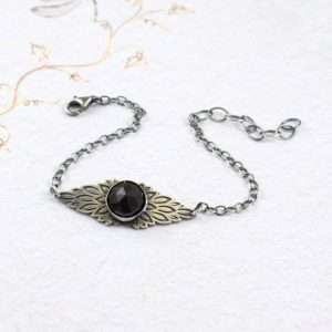 Shop Spinel Bracelets! Black Spinel Bracelet, Silver Boho Bracelet, Wings Bracelet, Everyday Jewelry | Natural genuine Spinel bracelets. Buy crystal jewelry, handmade handcrafted artisan jewelry for women.  Unique handmade gift ideas. #jewelry #beadedbracelets #beadedjewelry #gift #shopping #handmadejewelry #fashion #style #product #bracelets #affiliate #ad