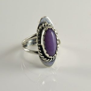 Shop Sugilite Rings! Sterling Lavendar Sugilite Ring – Native American Craftsmanship – Size 6.5 – Signed Mw  –  Marqueta Mccray – Navajo | Natural genuine Sugilite rings, simple unique handcrafted gemstone rings. #rings #jewelry #shopping #gift #handmade #fashion #style #affiliate #ad