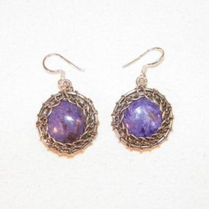 Shop Sugilite Earrings! Sterling Silver Purple Sugilite Earrings, 925 Hand Made Sugilite Earrings, Beautiful Purple Stone Dangle Earrings, Quality Durable Sterling | Natural genuine Sugilite earrings. Buy crystal jewelry, handmade handcrafted artisan jewelry for women.  Unique handmade gift ideas. #jewelry #beadedearrings #beadedjewelry #gift #shopping #handmadejewelry #fashion #style #product #earrings #affiliate #ad