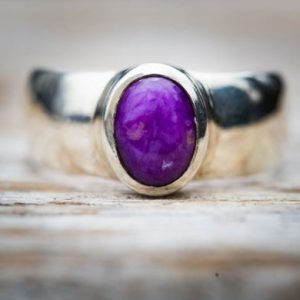 Shop Sugilite Jewelry! Sugilite Ring 7 – Sugilite and Sterling Silver ring – Suglite Jewelry – Sugilite ring – Ring Size 7 – Sterling Silver Sugilite Ring Suglite | Natural genuine Sugilite jewelry. Buy crystal jewelry, handmade handcrafted artisan jewelry for women.  Unique handmade gift ideas. #jewelry #beadedjewelry #beadedjewelry #gift #shopping #handmadejewelry #fashion #style #product #jewelry #affiliate #ad