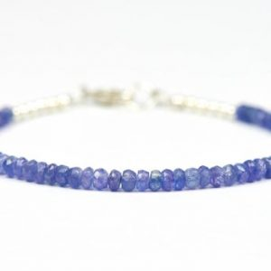 Tanzanite Bracelet, Purple Gemstone Delicate Bracelet, Lavender Beads | Natural genuine Tanzanite bracelets. Buy crystal jewelry, handmade handcrafted artisan jewelry for women.  Unique handmade gift ideas. #jewelry #beadedbracelets #beadedjewelry #gift #shopping #handmadejewelry #fashion #style #product #bracelets #affiliate #ad