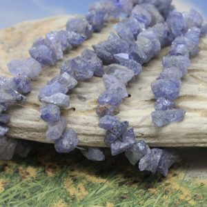 Shop Gemstone Chip & Nugget Beads! Rare Tanzanite Natural Raw Rough Cut Nugget Chip Beads 6-12 Mm Approx Blue Gemstone Irregular Cut Beads / Freeform Tanzanite Gemstone 3 Bead | Natural genuine chip Gemstone beads for beading and jewelry making.  #jewelry #beads #beadedjewelry #diyjewelry #jewelrymaking #beadstore #beading #affiliate #ad