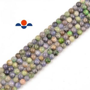 Shop Tanzanite Round Beads! Natural Multi Color Tanzanite Gemstone Smooth Round Loose Beads Size 6mm / 8mm 15.5 Inches Per Strand. | Natural genuine round Tanzanite beads for beading and jewelry making.  #jewelry #beads #beadedjewelry #diyjewelry #jewelrymaking #beadstore #beading #affiliate #ad