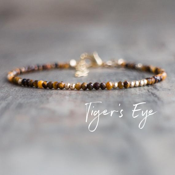 Tiger Eye Bracelet, Tigers Eye Crystal Bracelet, Honey Tiger Eye Bracelets For Women, Natural Gemstone Bracelet