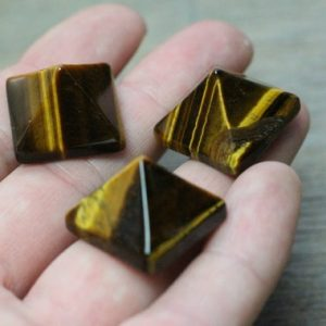 Tiger Eye Pyramid C103 | Natural genuine stones & crystals in various shapes & sizes. Buy raw cut, tumbled, or polished gemstones for making jewelry or crystal healing energy vibration raising reiki stones. #crystals #gemstones #crystalhealing #crystalsandgemstones #energyhealing #affiliate #ad