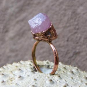 Shop Tourmaline Rings! Rough pink tourmaline ring | Tourmaline copper ring | Pink tourmaline electroformed ring | Raw tourmaline copper ring | Natural genuine Tourmaline rings, simple unique handcrafted gemstone rings. #rings #jewelry #shopping #gift #handmade #fashion #style #affiliate #ad