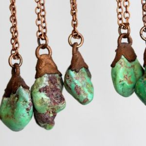 Shop Turquoise Pendants! Green Turquoise Necklace – Genuine Turquoise Pendant – Layering Necklace | Natural genuine Turquoise pendants. Buy crystal jewelry, handmade handcrafted artisan jewelry for women.  Unique handmade gift ideas. #jewelry #beadedpendants #beadedjewelry #gift #shopping #handmadejewelry #fashion #style #product #pendants #affiliate #ad